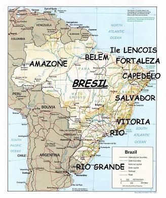 Carte Bresil Belem.Voyage En Voilier Au Bresil Escale En Amazonie Marajo Belem
